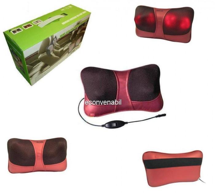 Perna de masaj cu 4 degete si incalzire pentru scaun auto, birou CHM8018 foto mare