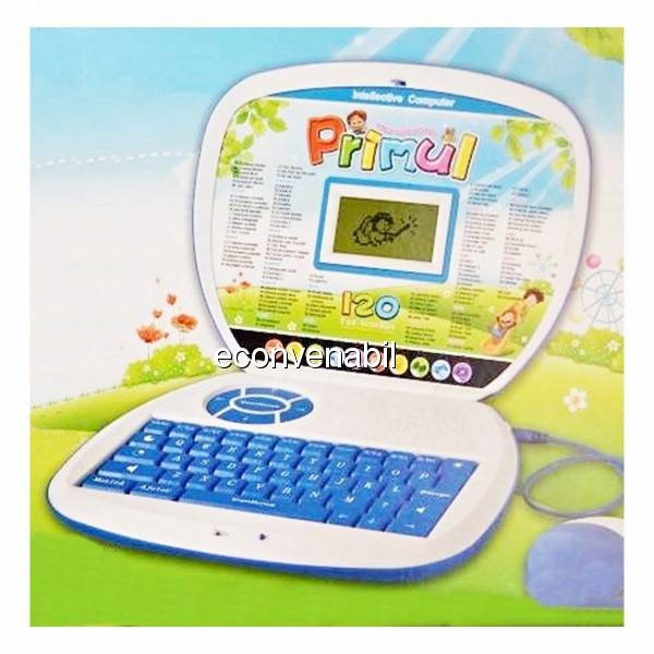 Laptop Bilingv Copii Romana Engleza Primul meu Calculator 120 Functii foto mare