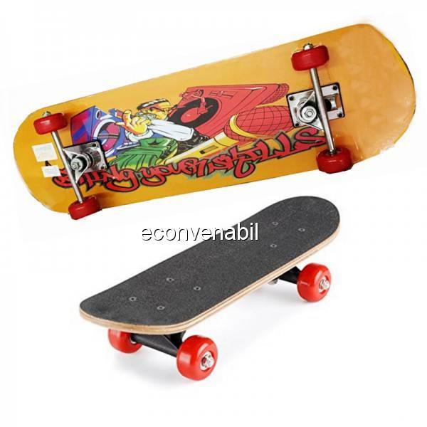 Skateboard cu roti din silicon 80cm foto mare