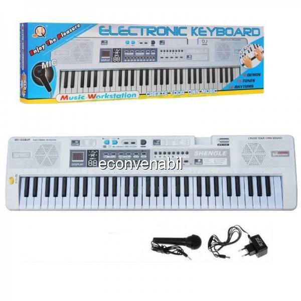 Orga electronica 61 de clape cu Microfon, Radio si USB MQ008UF foto mare