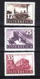 AUSTRIA 1937 TRENURI , SERIE COMPLETA NESTAMPILATA, Nestampilat