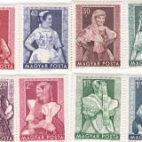 Ungaria 1953 costume populare MNH - Timbre straine, Nestampilat