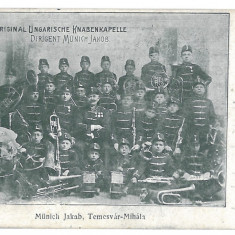 3892 - TIMISOARA, Music, Orchestrate - old postcard - used - 1904 - Carte Postala Banat pana la 1904, Circulata, Printata