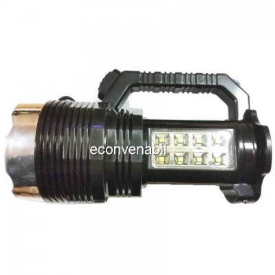 Lanterna cu LEDuri si Acumulator Incarcare Solara si 220V YW6870 foto