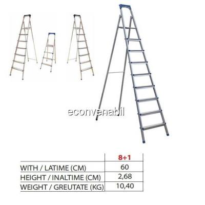 Scara metalica 8+1 Trepte Sanitec SN309 60x2,68cm 10,40kg foto