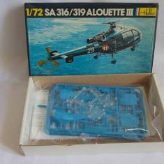 Macheta elicopter militar scara 1/72 SA 316/319 Alouette III Heller Model set - Macheta Aeromodel