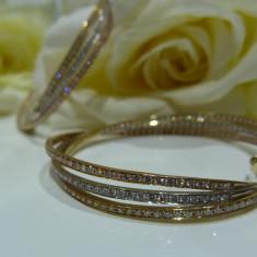 Cercei aur 18k cu diamante - Cercei cu diamante