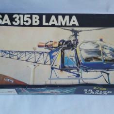 Macheta elicopter militar SA 315B LAMA Heller scara 1/50 Model set - Macheta Aeromodel