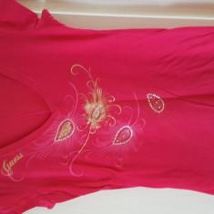 Tricou Dama Guess/Roz Fuchsia/ Marime L/Produs Nou, Marime: L