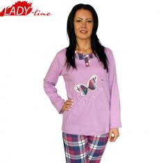 Pijama Dama Maneca/Pantalon Lung, Model Butterfly,Brand Baki Collection, Cod 673