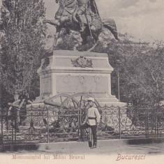 BUCURESTI  MONUMENTUL  MIHAI  VITEAZUL DIN BUCURESTI, Necirculata, Printata