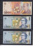 ROMANIA POSTDECEMBRISTA  ,  LOT BANCNOTE  500LEI  SI  1000 LEI