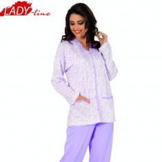 Pijama Dama Cu Nasturi, Bumbac, Model Beauty Purple, Brand Aydogan, Cod 848