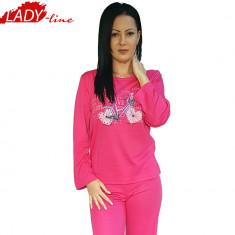 Pijama Dama Maneca/Pantalon Lung, Model Love & Travel, Brand Dehai-T, Cod 782
