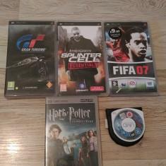 Jocuri si filme PSP - Gran Turismo - Splinter Cell - Fifa 07 - Harry Potter - Jocuri PSP Sony