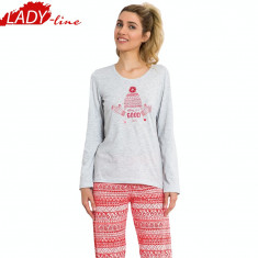 Pijama Dama Maneca/Pantalon Lung, Model Today Is A Good Day, Cod 803