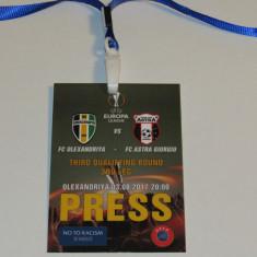 Acreditare meci fotbal FC Oleksandriya (Ucraina) - ASTRA GIURGIU (03.08.2017) - Bilet meci