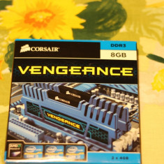 Kit Dual Channel Corsair Vengeance 8GB (2 x 4GB), DDR3 - Memorie RAM