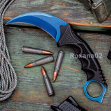 CUTIT KARAMBIT. Fade CSGO Blue Night. Teaca Inclusa + Snur.