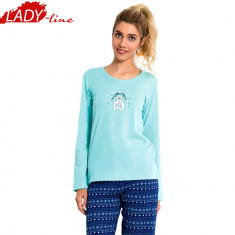 Pijama Dama Maneca/Pantalon Lung, Vienetta, Model Sweet Winter Friend, Cod 678