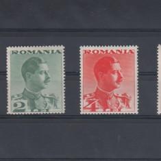 ROMANIA 1934, LP 108, CAROL II FARA POSTA SERIE MNH - Timbre Romania, Nestampilat