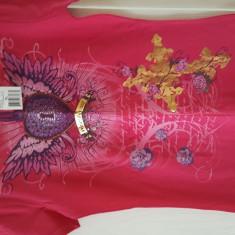 Tricou Dama Guess Jeans/ROZ cu Inima MOV/ Marimea XL/ NOU