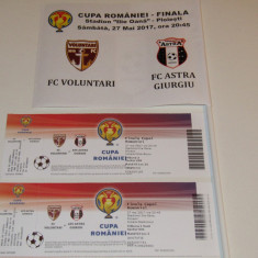 Bilet+Cadou stegulet-meci fotbal VOLUNTARI-ASTRA (finala Cupei Romaniei 2017) - Bilet meci
