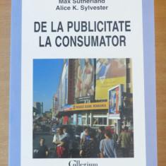 De la publicitate la consumator - Alice K. Sylvester, Max Sutherland, Polirom