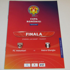 Program meci fotbal VOLUNTARI - ASTRA GIURGIU (finala Cupei Romaniei 2017)