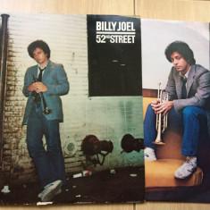 Billy Joel 52nd Street album disc vinyl lp muzica pop rock mapa texte ed vest, VINIL