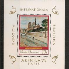 Romania 1975, PICTURA TH.PALADY, colita nestampilata, F122 - Timbre Romania, Arta