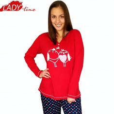 Pijama Dama Maneca/Pantalon Lung, Model In Love, Brand Baki COllection, Cod 966
