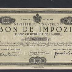 ROMANIA BON DE IMPOZIT - Cambie si Cec