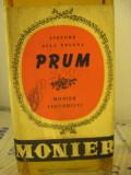 LIQUORE nr. 5 ALLA PRUGNA, PRUM, MONIER LIQUORISTI, L. 1  gr 39  anI 1960