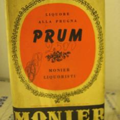 LIQUORE nr. 5 ALLA PRUGNA, PRUM, MONIER LIQUORISTI, L. 1 gr 39 anI 1960 - Lichior
