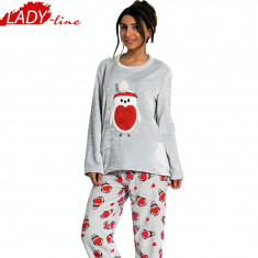 Pijama Dama Calduroasa din Velur, Model With Love, Vienetta Secret, Cod 866