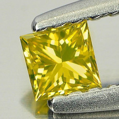 >> DIAMANT NATURAL GALBEN patrat  - 0,13ct. - 2,75 X 2,80 mm - SUPERB ! ! !, Briliant