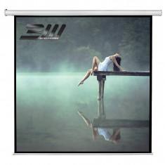 Ecran de proiectie electric Blackmount perete/tavan 300 x 300 cm cu telecomanda