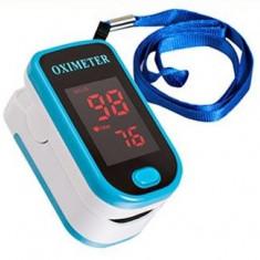 OXIMETRU + PULSOMETRU Digital / Pulsoximetru / puls si nivel oxigen din sange - Aparat monitorizare