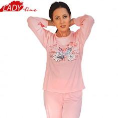 Pijama Dama Maneca/Pantalon Lung, Model Love & Travel, Brand Dehai-T, Cod 783