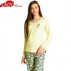 Pijama Dama Din Bumbac Interlock, Vienetta Secret, Model Seek Peace, Cod 595 - Pijamale dama, Marime: XL, Culoare: Din imagine