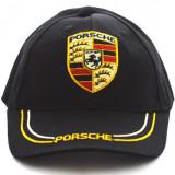 Sapca Porsche neagra - Sapca Barbati, Marime: Marime universala, Culoare: Negru
