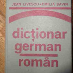 Dictionar German-roman - Jean Livescu Emilia Savin, 538714 - Curs Limba Germana