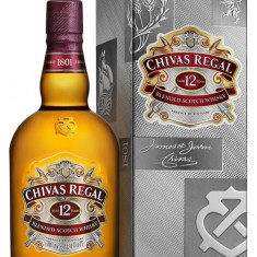 Whisky Chivas Regal 12 ani, 1 litru, cu cutie aferenta de carton