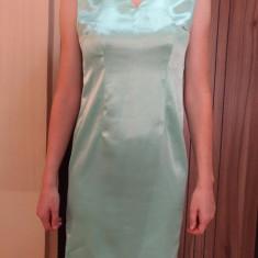Rochie ocazii speciale deosebite femeie evenimente rochii elegante dama seara zi - Rochie ocazie, Marime: 36, Culoare: Turcoaz, Midi, Fara maneca