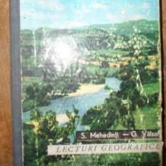Lecturi Geografice - S. Mehedinti, G. Valsan, 538712 - Carte Geografie