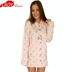 Camasa De Noapte Maneca Lunga, Model First Love, Brand Italian Design, Cod 1043