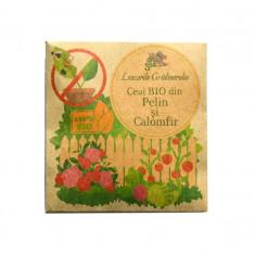 Leacurile Gradinarului - Ceai BIO din Pelin si Calomfir, repelent natural impotriva insectelor si daunatorilor (plic) - Insecticid