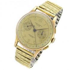 Ceas aur 18k cronograf - Ceas barbatesc, Mecanic-Manual