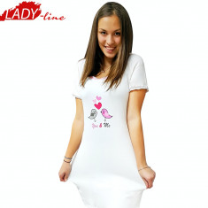 Camasa de Noapte Maneca Scurta, Model You & Me, Brand Miss Beautiful, Cod 1117